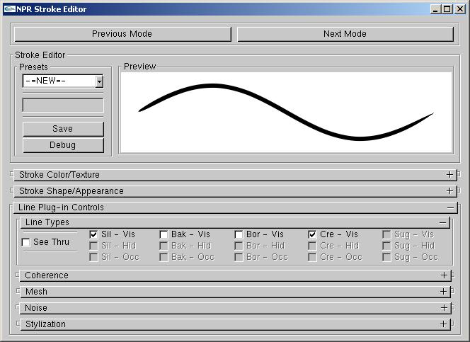 Editing Mode - Line Editing Mode664